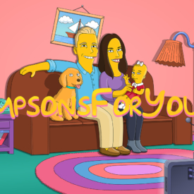 Подарок семье (на диване симпсонов)